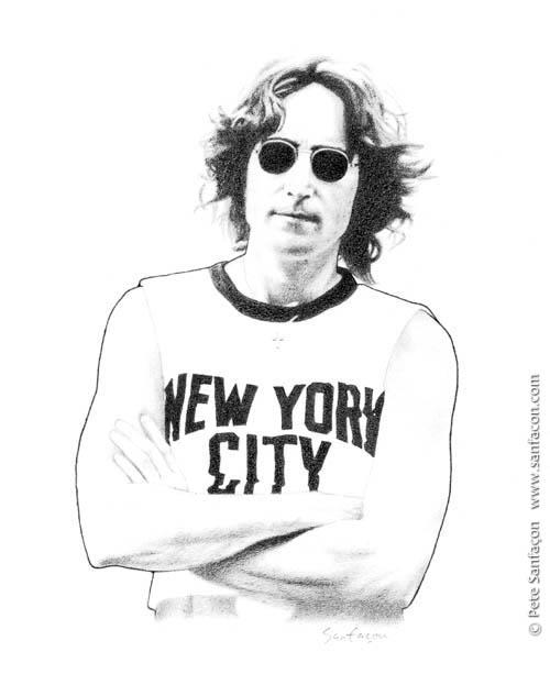 John Lennon Glasses Drawing