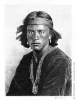 Navajo Boy (from a photograph by Carl Moon circa 1905)